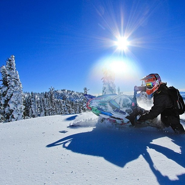 So crisp, so clean. #Snowmobiling