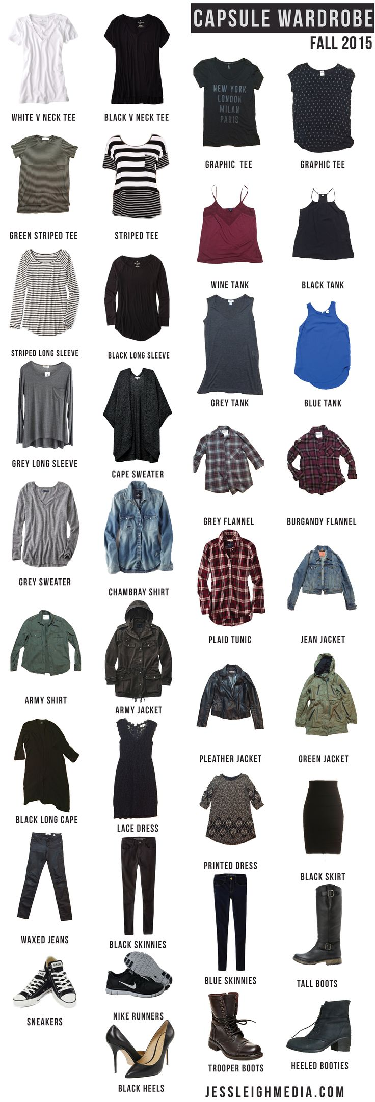 Capsule Wardrobe Project: FALL 2015 Declutter your closet, destress your choices and save money!
