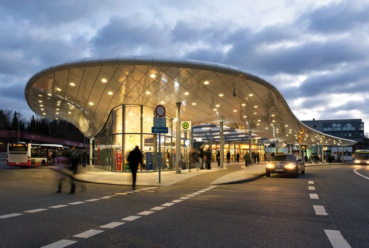 bus station hamburg poppenb ttel germany by blunck morgen architekten hamburg wtm ingenieure. Black Bedroom Furniture Sets. Home Design Ideas