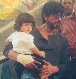 Cuteness Alert: AbRam Accompanies Daddy Shah Rukh for Raees Shoot | PINKVILLA