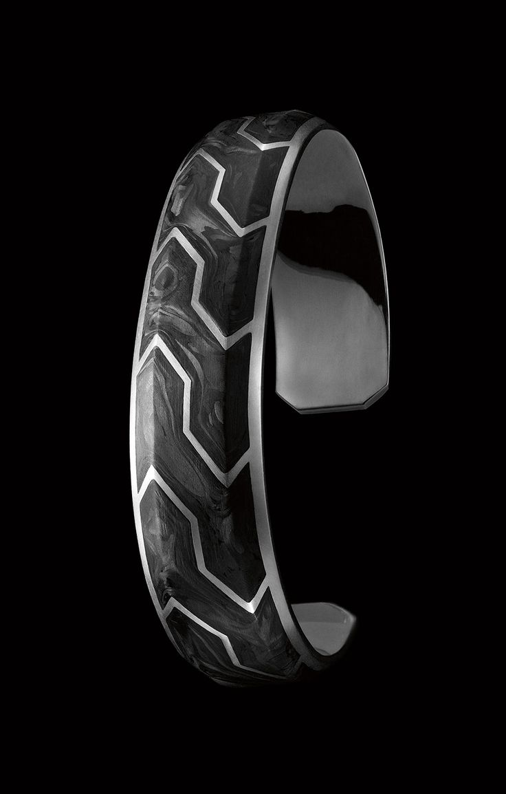 forged carbon cuff for men