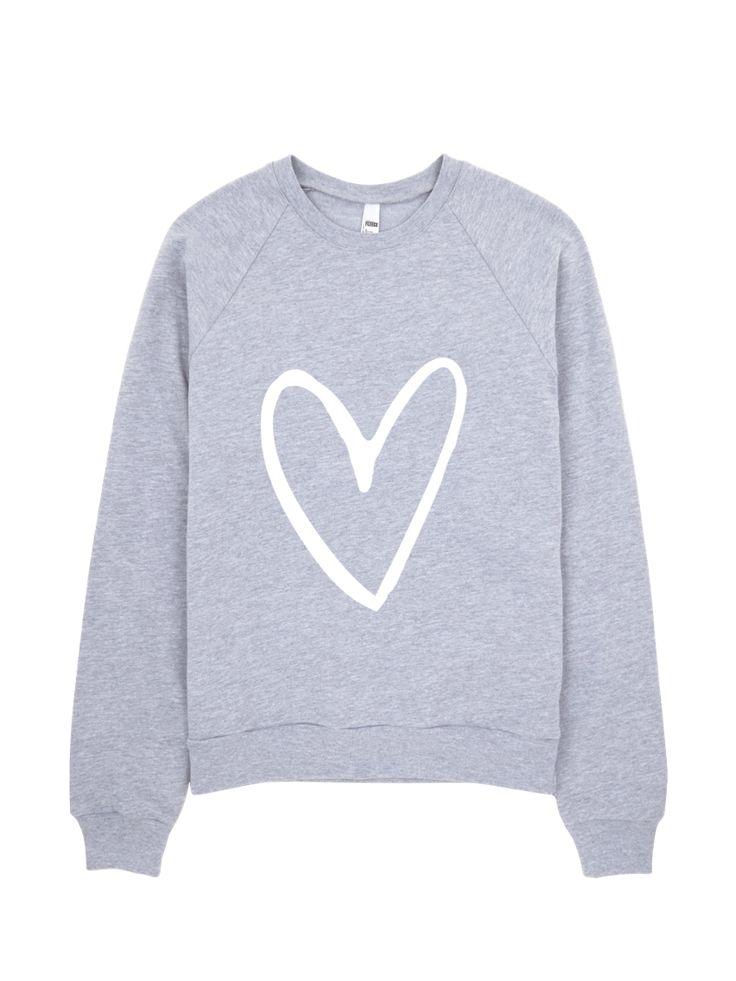 More Love Crewneck Sweatshirt by dancelove. #danceapparel #dancequotes #dancer #danceclothing #dance #heartsweater