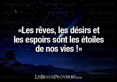 Les Beaux Proverbes – Proverbes, citations et pensées positives » » Les étoiles de nos vies !