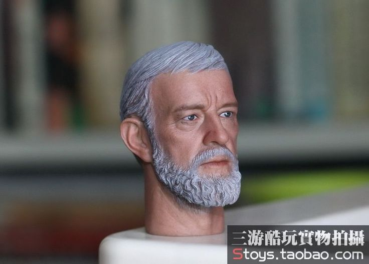"""(44.00$)  Buy here  - """"1/6 figure doll head shape for 12"""""""" action figure doll accessories Star Wars Obi-Wan Kenobi Head carved not include body,clothes"""""""