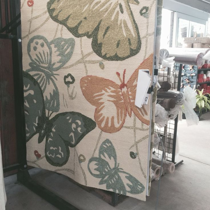 Outdoor rugs available at The Barn Nursery, Chattanooga, TN; great for  patio