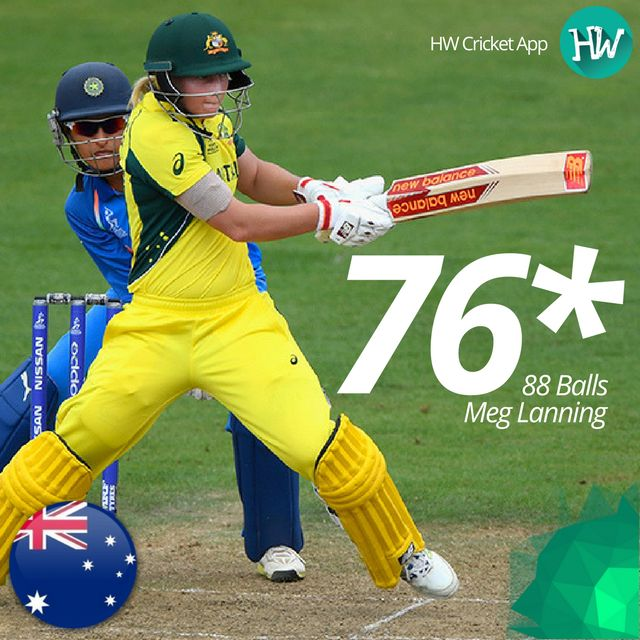 Meg Lanning was named the Player of the Match for leading from the front in a chase and taking them across the finish line! #WWC17 #AUSvIND #AUS #IND #cricket