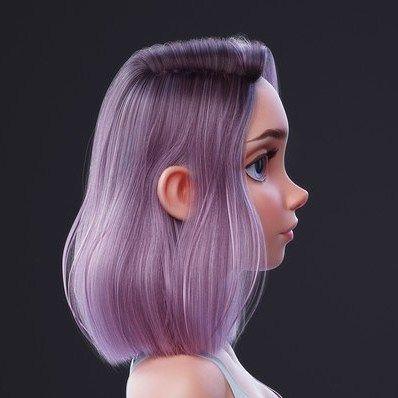Blender Hair Tutorial - By Nazar Noschenko @nazar_noschenko_artist  ____________________________________________    #cgjunkies #zbrush #art #3dmodeling #3dart #digitalart #Autodesk #characterdesign #charactermodeling #Pixologic #model #sculpt #render #blender #artstation #artstationhq #cartoon #cgsociety #cgart