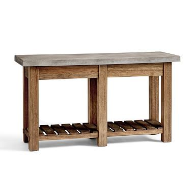 Abbott Concrete Top Console Table #potterybarn Suggestion for beneath kitchen window and in upper lounge area.