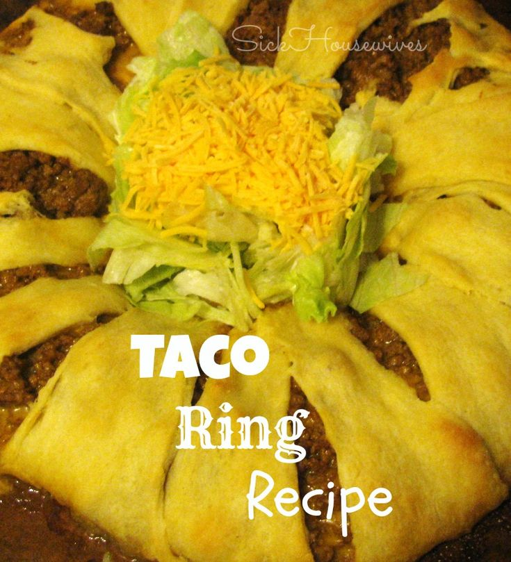 Delicious Taco Ring Recipe. This is a great recipe to make for a crowd!  #SuperBowl #GameDay #Recipe