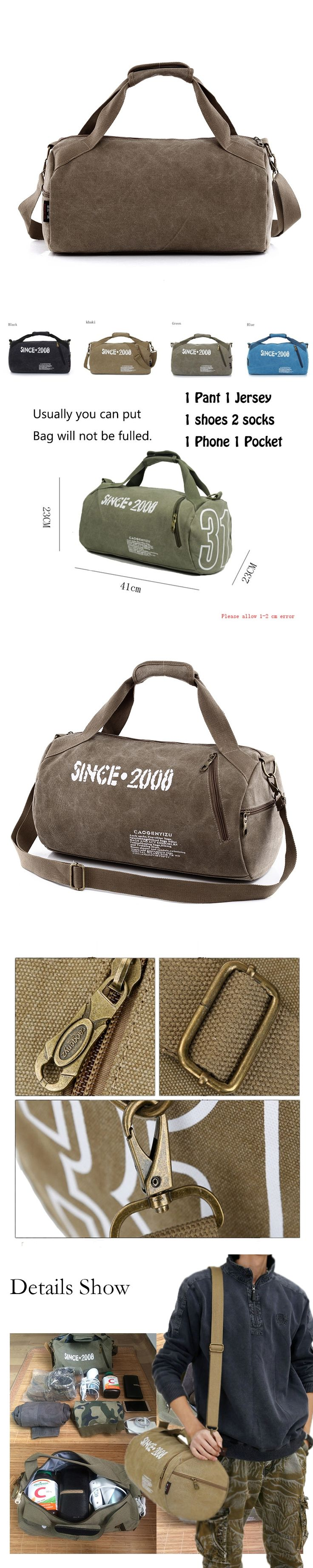 Canvas Sport Bag Training Gym Men Woman Fitness Bags Durable Multifunction Handbag Outdoor Sporting Tote