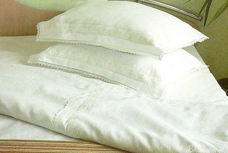 белое постельное белье лен
