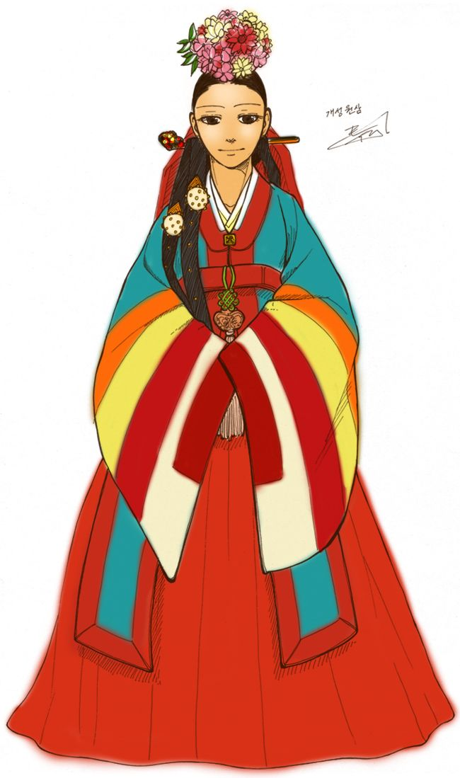 Hanbok, Gae-seong Wonsam by Glimja on deviantART'Wonsam' means a bridal wear of Hanbok (korean traditional clothes). This is Wonsam of Gae-seong city in Korea.