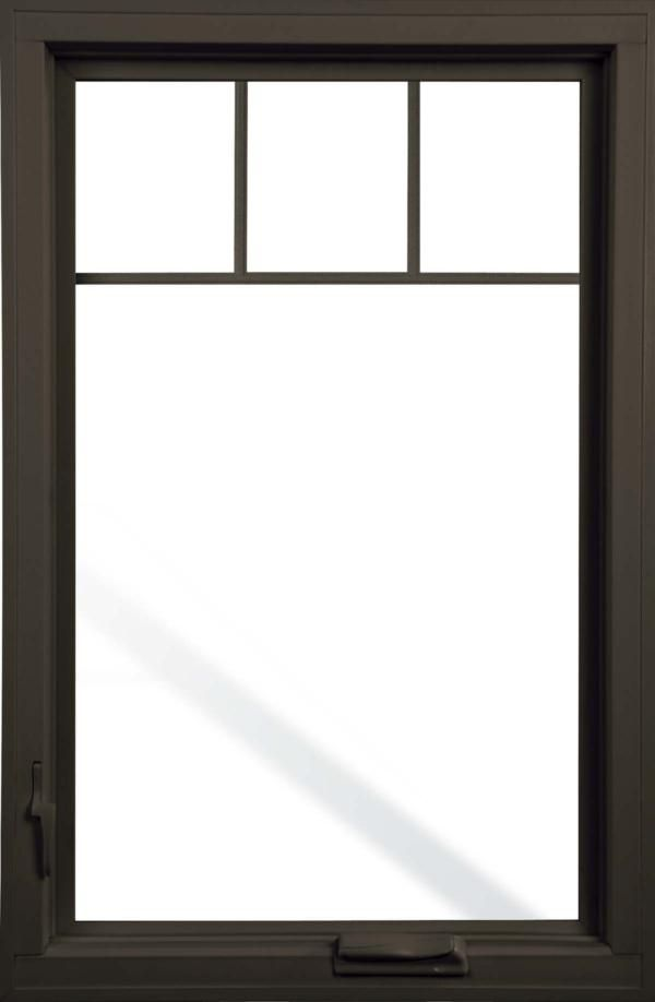 Pella impervia fiberglass casement window with top grill for Fiberglass windows