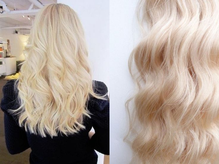 Colour 613 Platinum blonde hair extensions by VH&B ...