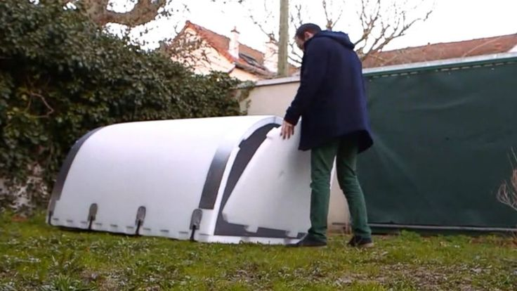 Igloos provide shelter for homeless population in France - ABC News