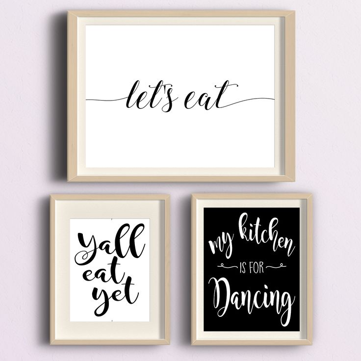 Kitchen Decor Ideas Etsy Shop Black And White Bw Printable Wall Quotes On Fast Easy Affordable Home