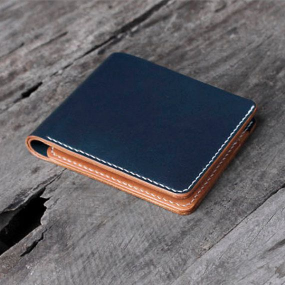 Handcrafted Urban Leather Mens Wallet with ID window by unidostore