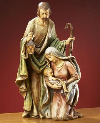 "Holy Family figurine - from catholicsupply  (#19296);  14.75"" tall"