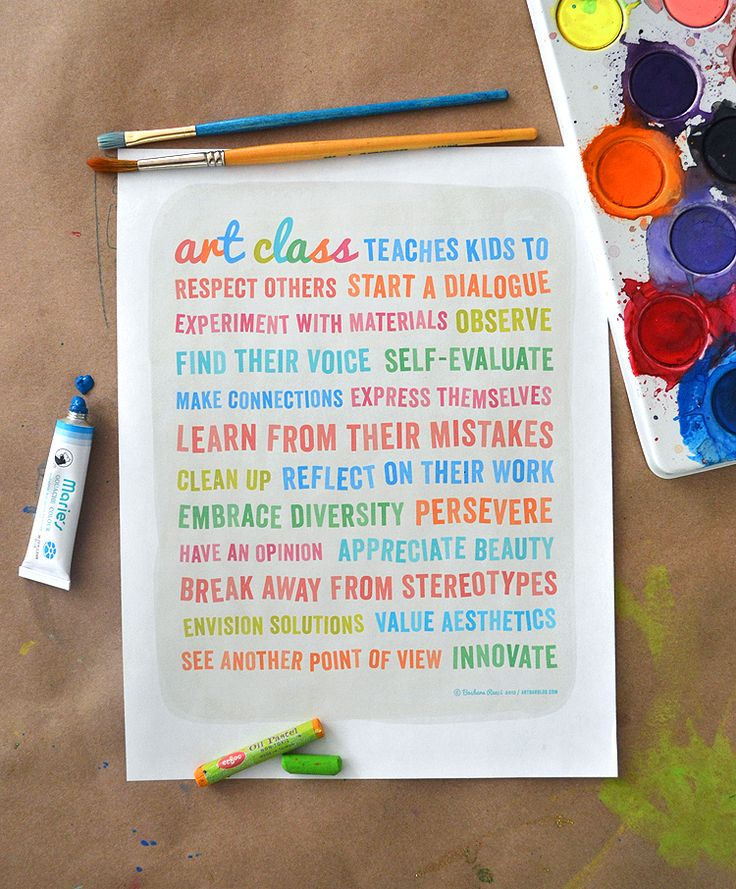 poster about the importance of art programs in school {also free printable version}