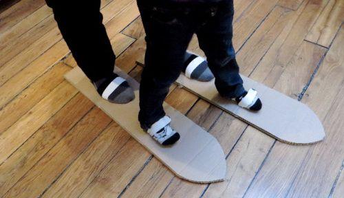Ski de plancher!