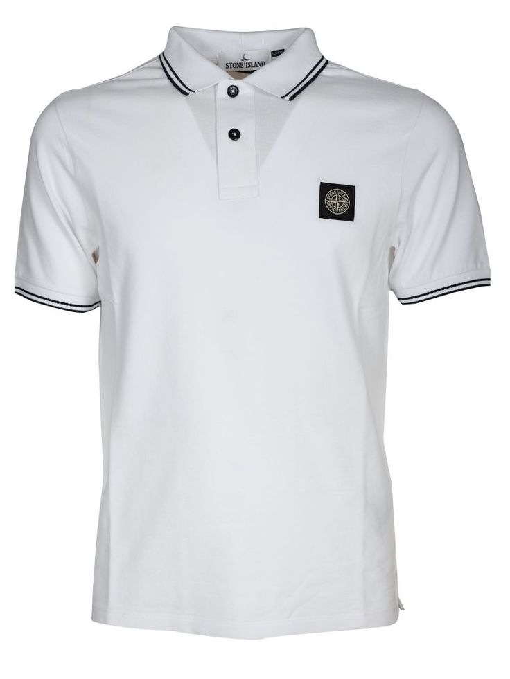 STONE ISLAND Stone Island Piped Collar Polo Shirt. #stoneisland #cloth #