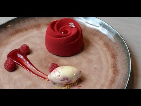 Graham Hornigold; executive pastry chef  demonstrates three chocolate de...