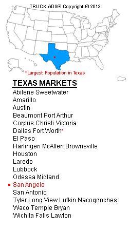 images 76904 zip code | TRUCK ADS® | San Angelo | Designated Market Map | Mobile Billboards ...