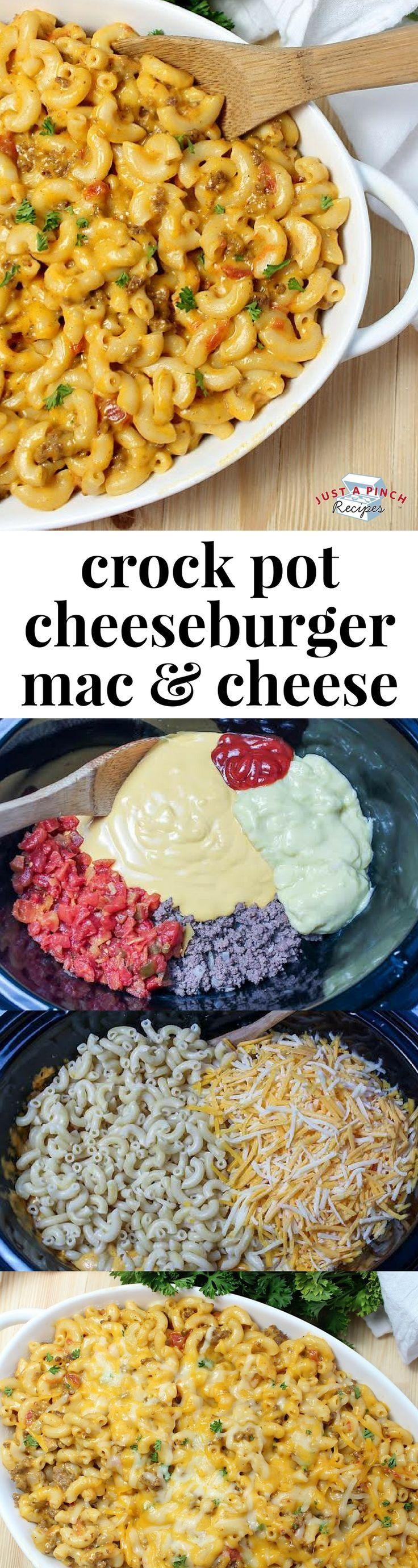 Crock Pot Cheeseburger Macaroni and Cheese
