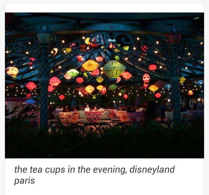 Tea cups at night