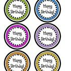 Cute Happy Birthday pencil/straw toppers! Print, cut, then tape to the back of a birthday pencil or crazy straw and then put them in a pot to make ...