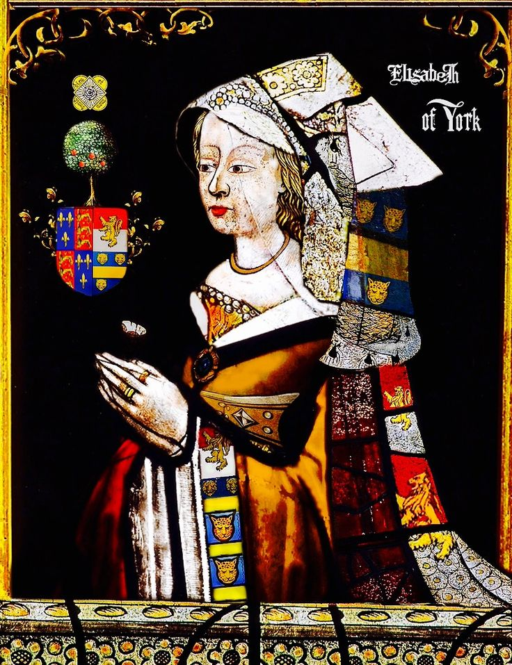 ELIZABETH OF YORK, DUCHESS OF SUFFOLK:  (22 April 1444 – c. 1503) was the sixth child and third daughter of Richard Plantagenet, 3rd Duke of York and Cecily Neville.  She was a younger sister of Anne of York, Duchess of Exeter, Edward IV of England and Edmund, Earl of Rutland. She was an older sister of Margaret of York, George Plantagenet, 1st Duke of Clarence and Richard III of England.