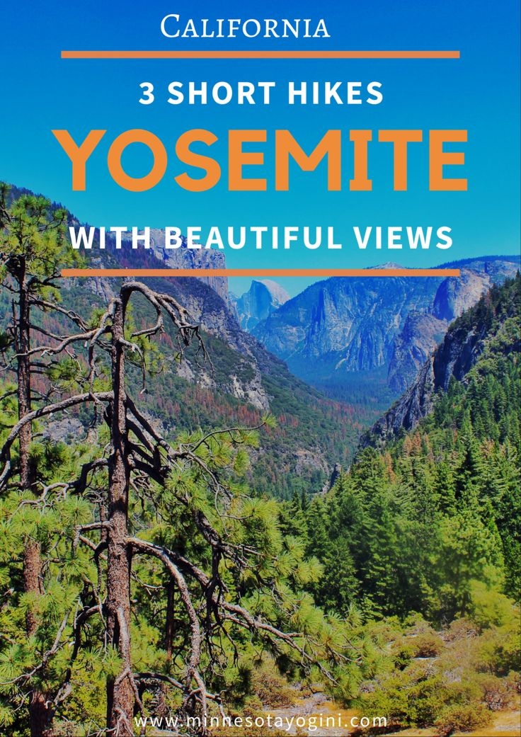 Minnesota Yogini - Yosemite National Park - Three Short Hikes with Beautiful Views - Minnesota Yogini