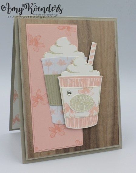 Stampin' Up! Coffee Cafe Pink Latte Card – Stamp With Amy K