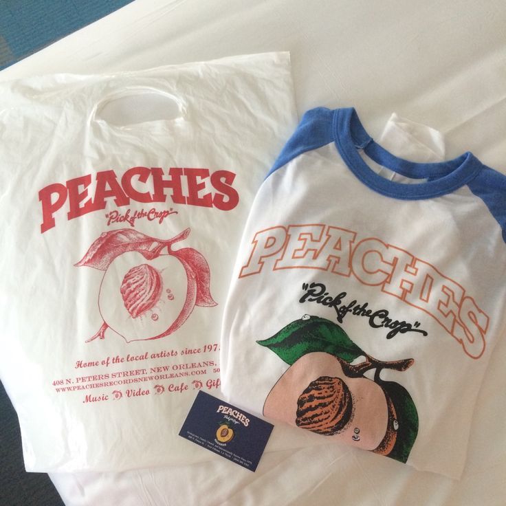 Peaches Pick of the Crops Baseball Tee