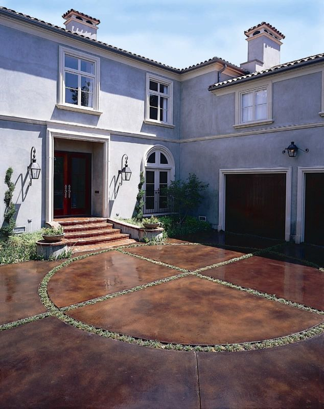 17 Best Ideas About Stained Concrete Driveway On Pinterest Curb Appeal Painted Concrete