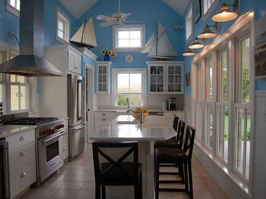 Blue Wall Paint Color For Kitchen Wall Decor Kitchen Wall Decor With Shape