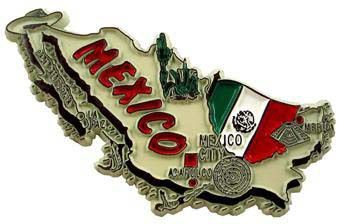 MGI Companies, Inc. - Mexico - International Country Shaped Map Magnets, $2.99 (http://www.internationalgiftitems.com/mexico-magnetic-map)