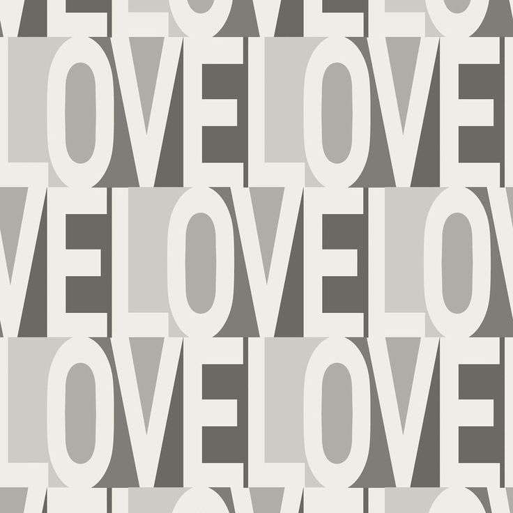 Love Self Adhesive Wallpaper in Greyscale by Bobby Berk for Tempaper