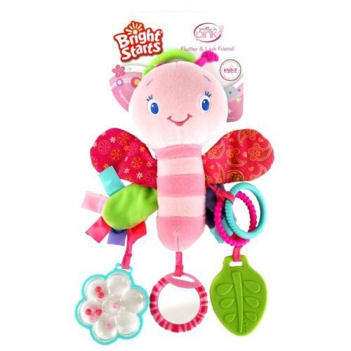 Plush Butterfly Activity Teether Rattle Baby Toddler Car Seat Strollers Fun Toy