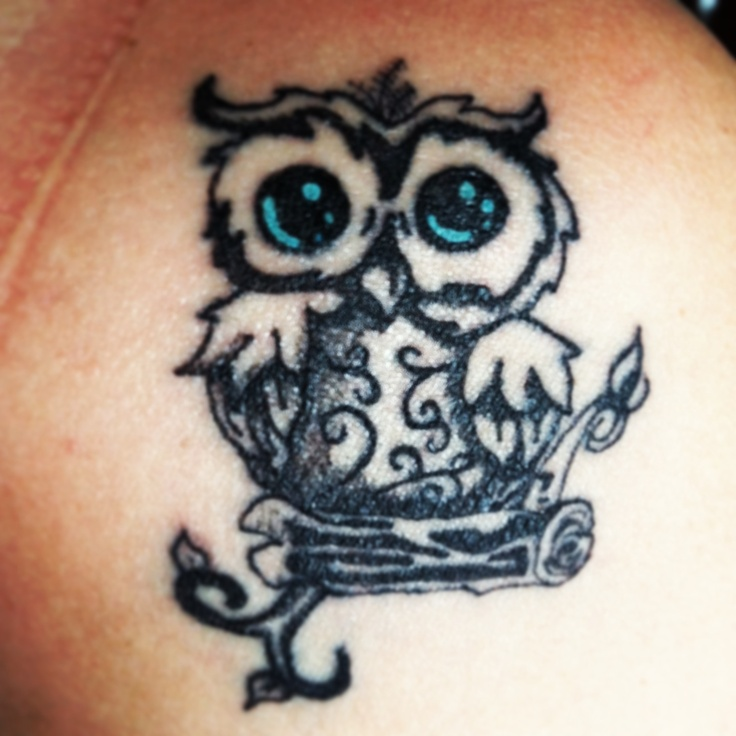 My baby owl tattoo :) love him
