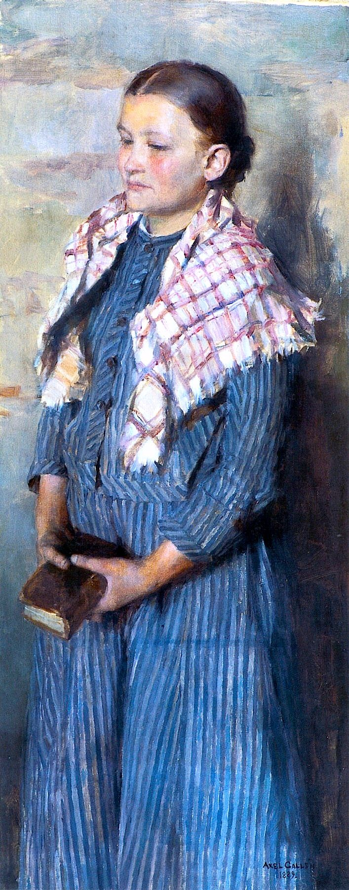 AKSELI GALLEN-KALLELA Church Girl (1889)