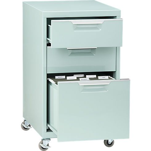 TPS mint file cabinet in all storage | CB2