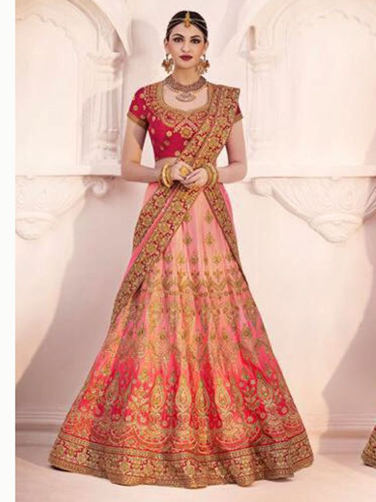 The lehenga made in slub satin with thread embroidery. with unstitched blouse and dupatta included. Be sure to add me to yourfavorites list ! if you need stitching service or else we send unstitched. | eBay!