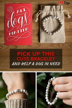 When a dog crosses over the Rainbow Bridge, they always take a piece of your heart with them.  I Heart Dogs has crafted a unique and symbolic bracelet that memorializes the relationship you have with a dog who's passed on. Each piece features thoughtful elements, all designed to honor the memory of your beloved pup. It also feeds 22 shelter dogs with your purchase. Visit iheartdogs.com for more.
