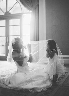 When people think bridal party, they think bridesmaids, but let's not forget the most adorable member, the flower girl. Be sure to snap a picture of you and the little sweetie on your special day. Wedding Photos, Wedding Party