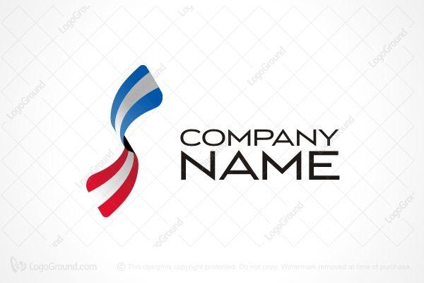 Logo for sale: Letter S Ribbon Logo