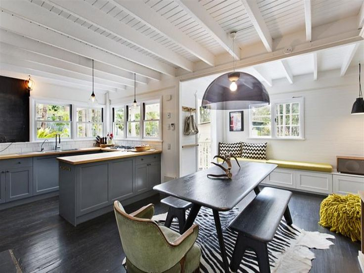 kitchen and dining room via desire to inspire