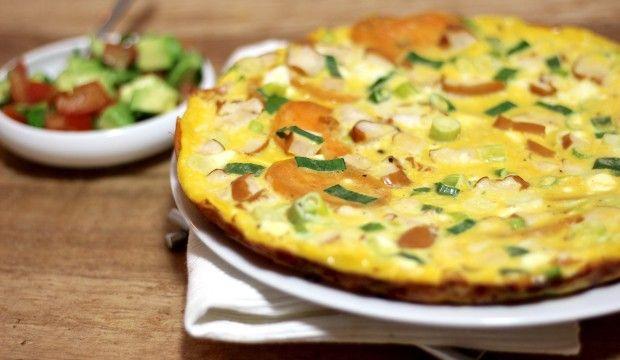Frittata met zoete aardappel5