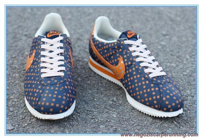 Dark Blu/Arancione/Bianco Point Nike Classic Cortez Uomo-Donna palloni calcio