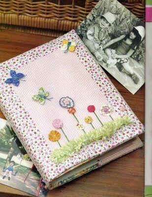 Artesanato e Cia: Capa de caderno,agenda ou álbum em tecido-passo a passo